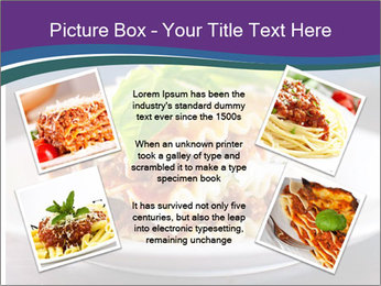 Lasagna with basil and ricotta cheese PowerPoint Templates - Slide 24