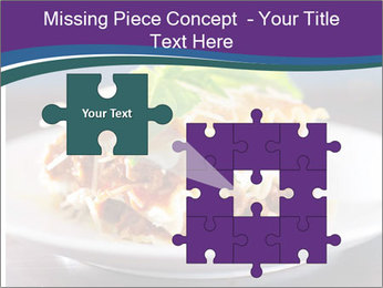 Lasagna with basil and ricotta cheese PowerPoint Templates - Slide 45