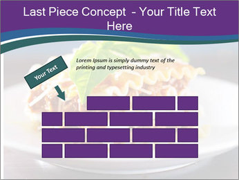 Lasagna with basil and ricotta cheese PowerPoint Templates - Slide 46