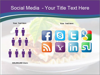 Lasagna with basil and ricotta cheese PowerPoint Templates - Slide 5