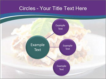 Lasagna with basil and ricotta cheese PowerPoint Templates - Slide 79