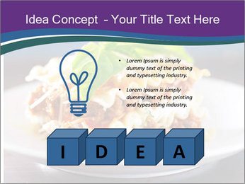 Lasagna with basil and ricotta cheese PowerPoint Templates - Slide 80
