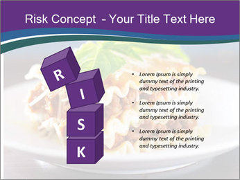 Lasagna with basil and ricotta cheese PowerPoint Templates - Slide 81