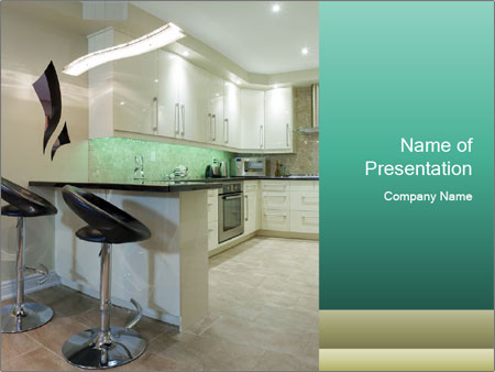 Interior design of modern kitchen PowerPoint Templates