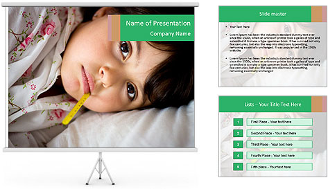 Portrait of a little girl PowerPoint Template