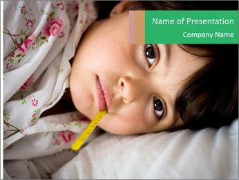 Portrait of a little girl PowerPoint Template