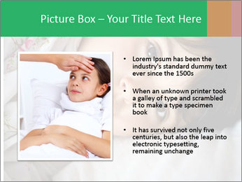 Portrait of a little girl PowerPoint Template - Slide 13