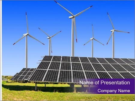 Solar panels PowerPoint Template