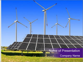 Solar panels PowerPoint Template - Slide 1