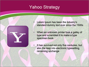Many pink ribbon on green grass PowerPoint Template - Slide 11