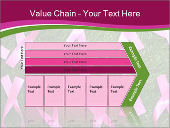 Many pink ribbon on green grass PowerPoint Template - Slide 27