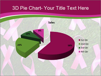 Many pink ribbon on green grass PowerPoint Template - Slide 35