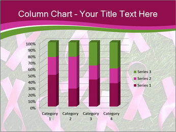 Many pink ribbon on green grass PowerPoint Template - Slide 50