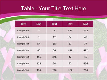 Many pink ribbon on green grass PowerPoint Template - Slide 55