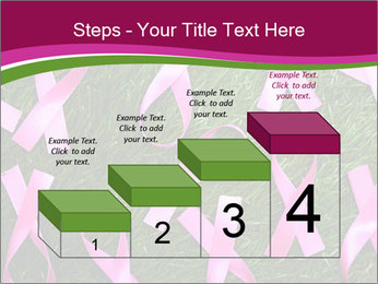 Many pink ribbon on green grass PowerPoint Template - Slide 64