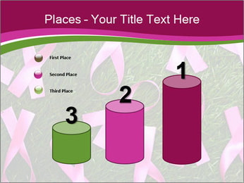 Many pink ribbon on green grass PowerPoint Template - Slide 65