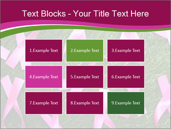 Many pink ribbon on green grass PowerPoint Template - Slide 68