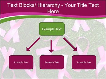 Many pink ribbon on green grass PowerPoint Template - Slide 69