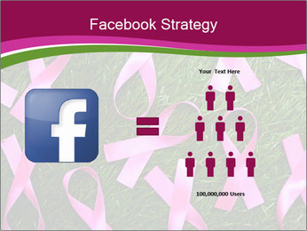 Many pink ribbon on green grass PowerPoint Template - Slide 7
