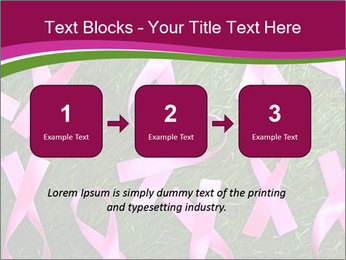 Many pink ribbon on green grass PowerPoint Template - Slide 71
