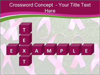 Many pink ribbon on green grass PowerPoint Template - Slide 82