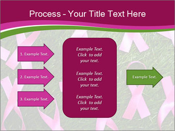 Many pink ribbon on green grass PowerPoint Template - Slide 85