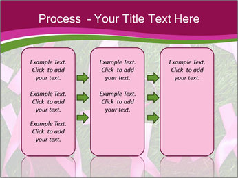 Many pink ribbon on green grass PowerPoint Template - Slide 86