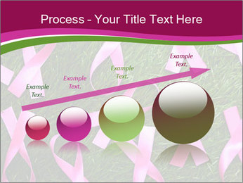 Many pink ribbon on green grass PowerPoint Template - Slide 87