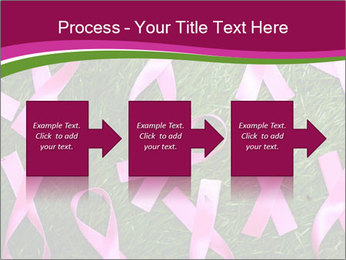 Many pink ribbon on green grass PowerPoint Template - Slide 88