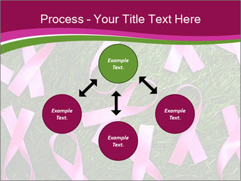 Many pink ribbon on green grass PowerPoint Template - Slide 91