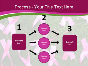 Many pink ribbon on green grass PowerPoint Template - Slide 92