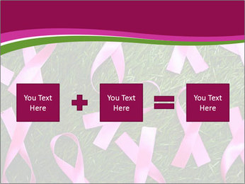 Many pink ribbon on green grass PowerPoint Template - Slide 95