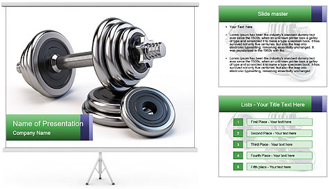 Dumbbell PowerPoint Template