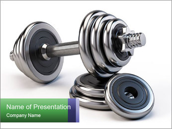 Dumbbell PowerPoint Template - Slide 1