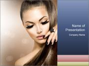 Charming girl PowerPoint Templates