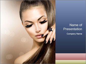 Charming girl PowerPoint Templates - Slide 1