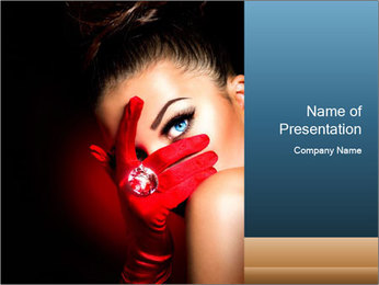 Mysterious girl PowerPoint Template