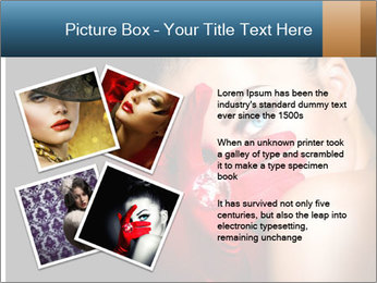 Mysterious girl PowerPoint Templates - Slide 23