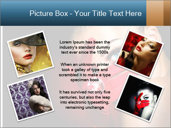 Mysterious girl PowerPoint Templates - Slide 24