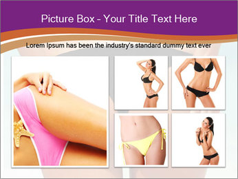 Sexy woman buttocks on the beach PowerPoint Template - Slide 19