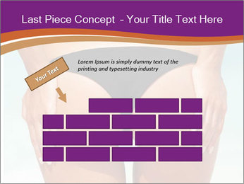 Sexy woman buttocks on the beach PowerPoint Templates - Slide 46
