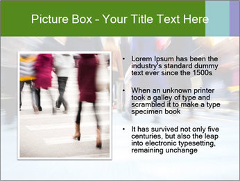 Commuters in motion blur PowerPoint Templates - Slide 13