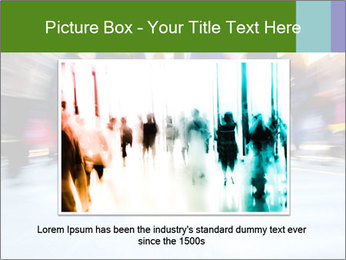 Commuters in motion blur PowerPoint Template - Slide 16