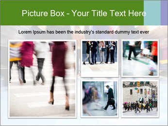 Commuters in motion blur PowerPoint Templates - Slide 19