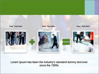 Commuters in motion blur PowerPoint Template - Slide 22