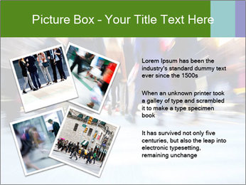 Commuters in motion blur PowerPoint Template - Slide 23