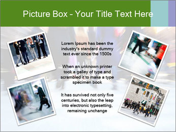 Commuters in motion blur PowerPoint Template - Slide 24