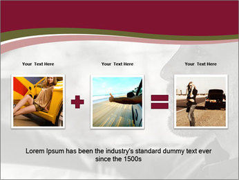 Elegant young handsome man and convertible car PowerPoint Template - Slide 22