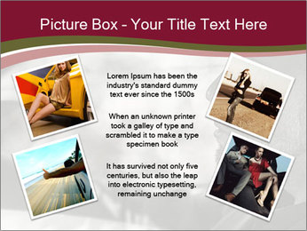 Elegant young handsome man and convertible car PowerPoint Template - Slide 24