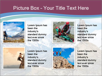 Hiker at the top of a rock PowerPoint Templates - Slide 14